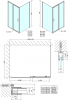 Polysan Easy Line obdélníkový sprchový kout 1100x700mm L/P varianta EL1115EL3115