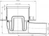 Sapho Podlahová vpust 105x105 boční odpad 50mm, nerez SI50C00