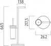 Nimco Unix Stojánkový WC set UN 13095W-26