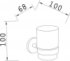 Aqualine SAMBA sklenka, mléčné sklo SB104