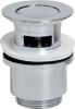 Sapho Uzavíratelná kulatá umyvadlová výpust click clack, malá zátka, V 30-50mm, chrom CV1008
