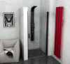 Polysan ZOOM LINE BLACK sprchové dveře 900mm, čiré sklo ZL1290B