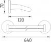 Nimco Kalypso Dvojitý držák na ručníky- BÍLÝ KA 7461D-51