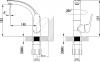 Sapho FLY stojánková umyvadlová baterie s otočnou hubicí, chrom DF004