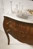Gallo Wood GELSO NOCE 115-S skříňka s umyvadlem, š.115cm, mramor Rosa Perlino, noce GN-115S