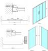 Polysan Lucis Line obdélníkový sprchový kout 1500x700mm L/P varianta DL4215DL3215