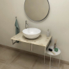 Sapho OLIVER deska 60x2x50cm, technický mramor, Fior di pesco OV060-1220