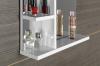 Aqualine KORIN zrcadlo s LED osvětlením a poličkami 60x70x12cm KO370