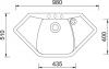 Granitový dřez Sinks NAIKY 980 Metalblack TLNA98051074