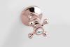 Reitano Rubinetteria ANTEA podomítková sprchová baterie, 2 výstupy, růžové zlato SET305-107
