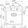 Nerezový dřez Sinks BOXER 500 MP68149