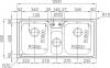 Nerezový dřez Sinks BETA 1000.1 DUO V 0,7mm MP125294