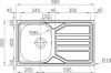 Nerezový dřez Sinks OKIO 860 XL V 0,6mm MP68200