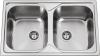 Nerezový dřez Sinks OKIOPLUS 800 DUO V 0,7mm MP68210