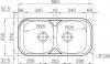 Nerezový dřez Sinks SEVILLA 860 DUO MP68225