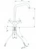 Reitano Rubinetteria AXIA stojánková dřezová baterie, chrom 509