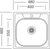Nerezový dřez Sinks GALANT 480 MP68274