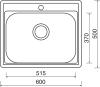 Nerezový dřez Sinks COMFORT 600 V 0,6mm matný STSCOM6005006V