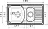 Nerezový dřez Sinks TWIN 780.1 V 0,6mm matný STSTWM78044016V