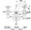 Reitano Rubinetteria ANTEA tříprvková umyvadlová baterie s výpustí, chrom/zlato 3022