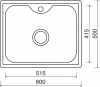 Nerezový dřez Sinks BIGGER 600 V 0,8mm matný MP68304