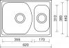 Nerezový dřez Sinks TWIN 620.1 V 0,6mm matný MP68310