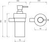 Nimco Bormo Dávkovač tekutého mýdla BR 11031W-T-26