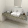 Sapho TAILOR rockstone deska 160x50 cm, provedení límce R TR160R