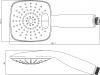 Sapho Ruční masážní sprcha s tlačítky, 2 režimy sprchování, 117x117mm, ABS/chrom 1204-31