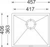 Granitový dřez Sinks FRAME 457 Milk ACRFR45740628