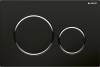 Geberit GEBERIT SIGMA20 ovládací tlačítko, 2 množství splachování, černá/chrom lesk 115.882.KM.1