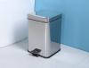 Aqualine SIMPLE LINE odpadkový koš hranatý 3l, leštěný nerez GAQ003