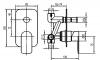 Aqualine DAPHNE podomítková sprchová baterie, 2 výstupy, chrom DH942
