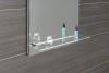 Aqualine LED podsvícené zrcadlo 50x80cm, skleněná polička, kolíbkový vypínač ATH52