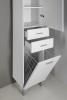 Aqualine ZOJA/KERAMIA FRESH skříňka vysoká s košem 35x184x29cm, bílá 51230