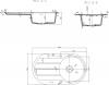 Sapho Dřez granitový vestavný s odkapávací plochou, 86x50 cm, bílá GR1201