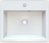 Sapho ORINOKO umyvadlo 50x42cm, litý mramor, bílá OR050
