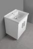 Aqualine POLY umyvadlová skříňka 56x74, 6x46, 5cm, 2xdvířka, bílá PL062