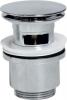 Sapho Uzavíratelná kulatá umyvadlová výpust click clack, velká zátka, V 30-50mm, chrom CV1007