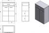 Aqualine ZOJA/KERAMIA FRESH skříňka spodní se zásuvkou 50x78x29cm, mali wenge 50314