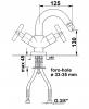 Reitano Rubinetteria AXIA stojánková bidetová baterie bez výpusti, chrom 518/S