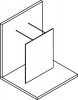 Polysan MODULAR SHOWER jednodílná zástěna WALK-IN, 1400 mm MS4-140