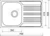 Nerezový dřez Sinks STAR 780 V 0,6mm matný STSSTM7805006V
