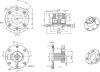 Sapho RHAPSODY vanová baterie s připojením do podlahy, výška 1050mm, chrom R5021