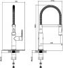Sapho JESSY stojánková dřezová baterie se sprškou, chrom 1105-62