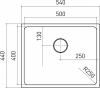Nerezový dřez Sinks BLOCK 540 V 1mm kartáčovaný STSBLK5404401V