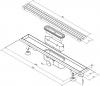 Polysan FLUE nerezový sprchový kanálek s roštem, 1030x115x82mm 74571
