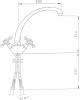 Reitano Rubinetteria ANTEA stojánková dřezová baterie, výška 265mm, chrom 3111