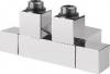 Sapho CUBE TWIN připojovací sada ventilů pro středové připojení, 50 mm, broušená nerez CP582