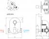 Sapho Podomítkový regulátor teploty vody pro bidetové spršky, chrom 1209-03